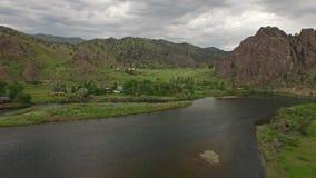 Aerial Montana Countryside Missouri River