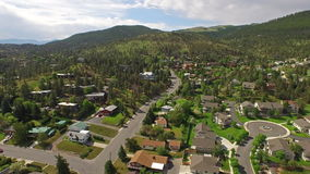 Aerial Montana Countryside Small Town. Aerial video of small town in Montana