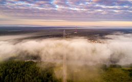 Aerial scenic dawn stock photography
