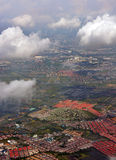 Aerial Morning View of Bangkok Suburbs, Thailand. Stock Photography
