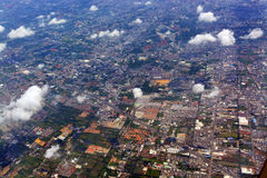 Aerial Morning View of Bangkok Suburbs, Thailand. Stock Photos