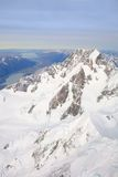 Aerial morning view of Mount Cook, New Zealand Stock Photo