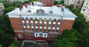 Aerial Moscow School Building stock video footage