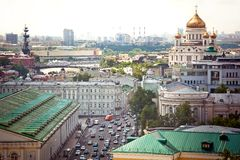 Aerial Moscow view Royalty Free Stock Photography