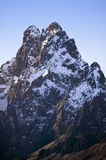 Aerial of Mount Kenya, Africa and snow in January, the second highest mountain at 17,058 feet or 5199 Meters Royalty Free Stock Photos