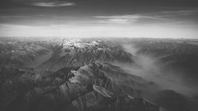 Aerial of mountain landscape Stock Images