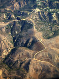 Aerial of Mountain Road Royalty Free Stock Photos