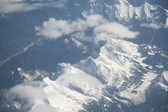 Aerial mountain view. Aerial view of Alps (Italy part Royalty Free Stock Photos
