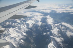 Aerial mountain view. Aerial view of Alps (Italy part Royalty Free Stock Images