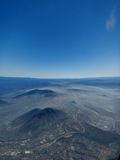 Aerial mountain view. Aerial view over mountains and valleys in Mexico Royalty Free Stock Images