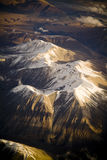 Aerial Mountains at Sunset Royalty Free Stock Image