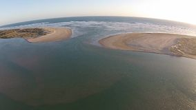 Aerial of the Mouth of the Murray River stock video