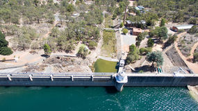 Aerial of Mundaring Weir Stock Photo