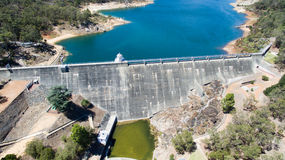Aerial of Mundaring Weir Royalty Free Stock Image