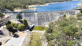Aerial of Mundaring Weir Royalty Free Stock Photo