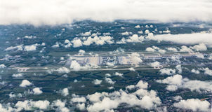 Aerial of Munich Airport in the erdinger moos Royalty Free Stock Images