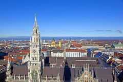 Aerial of Munich in beautiful weather Royalty Free Stock Images