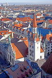 Aerial of Munich in beautiful weather Stock Photo
