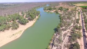 Aerial Murray River Riverscapes stock video footage