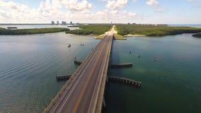 Aerial Naples FL Estero Causeway stock video