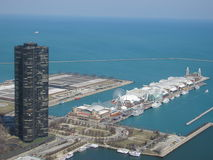 Aerial Navy Pier Royalty Free Stock Image