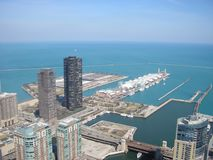 Aerial of Navy Pier Royalty Free Stock Photos