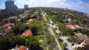 Aerial neighborhood flyover 4k stock video footage