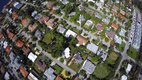 Aerial neighborhood Flyover stock footage