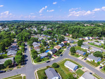 Aerial of a Neighborhood in Parkville in Baltimore County, Maryland stock image