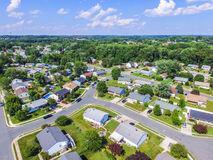 Aerial of a Neighborhood in Parkville in Baltimore County, Maryland stock photography