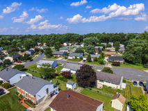 Aerial of a Neighborhood in Parkville in Baltimore County, Maryland stock photo