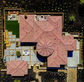 Aerial: New House Landscaping royalty free stock photos