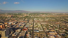 Aerial New Mexico Albuquerque stock video footage