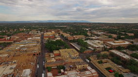 Aerial New Mexico Santa Fe stock footage