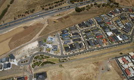 Aerial new suburb Royalty Free Stock Photos