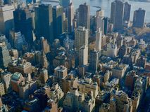 Aerial New York City royalty free stock photos