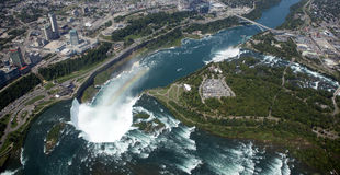 Aerial Niagara Falls Royalty Free Stock Images
