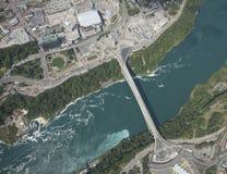 Aerial Niagara Falls River and Border Stock Photography