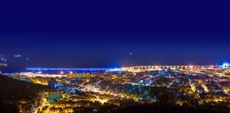 Aerial night Santa Cruz de Tenerife Canary Islands Royalty Free Stock Image