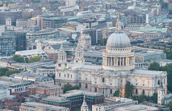 Aerial night view of St Paul, London Royalty Free Stock Image