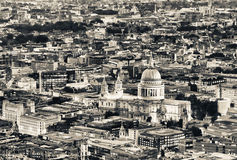 Aerial night view of St Paul, London Stock Photography