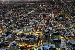 An aerial night view of Toronto Royalty Free Stock Image