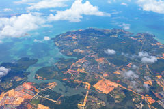 Aerial of non-urban city. Aerial picture of non-urban city stock image
