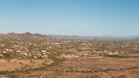 Aerial of North Phoenix and Deer Valley, Arizona stock video footage