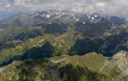 Aerial of north side of tre Signori range, Orobie Stock Images