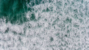 Aerial ocean water in strom season Stock Photography