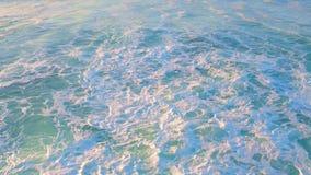 Aerial from ocean waves stock video