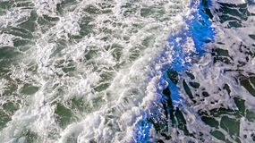 Aerial from ocean waves hitting the shore from the westcoast in. Portugal Royalty Free Stock Image
