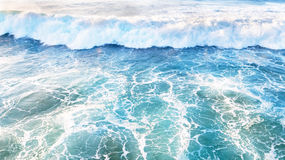 Aerial from ocean waves Stock Photography