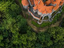 Free Aerial Of Medieval Castle On The Hill In Czech Region Of Moravia Stock Photography - 111576962